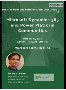 Microsoft's Dynamics 365 and Power Platform communities at the Pakistan D365 and Power Platform User Group meeting
